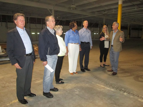 board touring Southern VA Advanced Manufacturing Center
