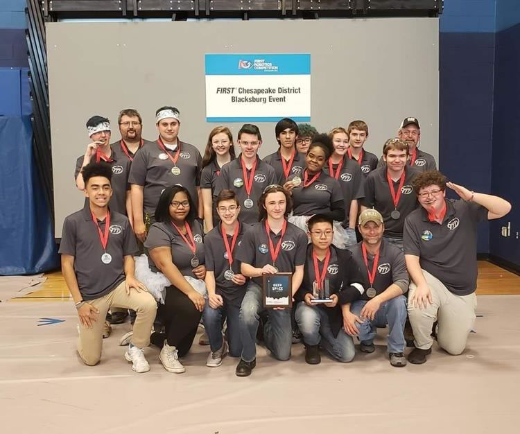 HCHS robotics team won 2nd place in district competition